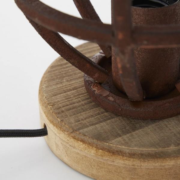 Brilliant 92610/55 Matrix Tischleuchte 18cm Metall/Holz Pendelleuchte