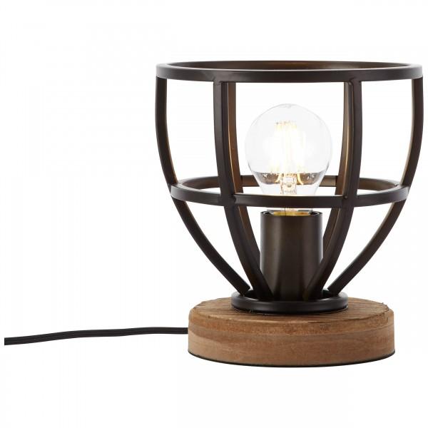 Brilliant 92610/76 Matrix Tischleuchte 18cm Metall/Holz Leuchte