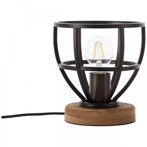 Brilliant 92610/76 Matrix Tischleuchte 18cm Metall/Holz Beleuchtung