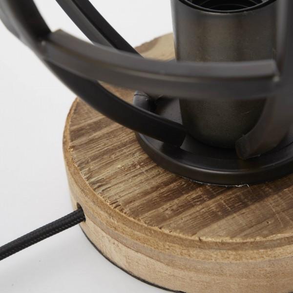 Brilliant 92610/76 Matrix Tischleuchte 18cm Metall/Holz Pendelleuchte