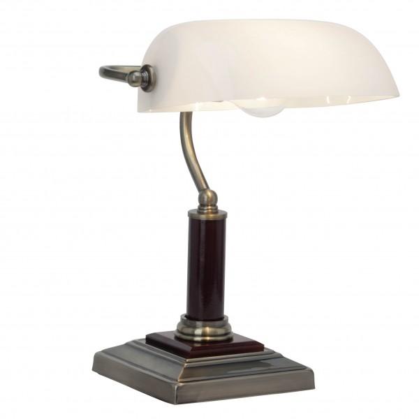 Brilliant 92679/31 Bankir Tischleuchte Glas/Metall/Holz LED Lampen