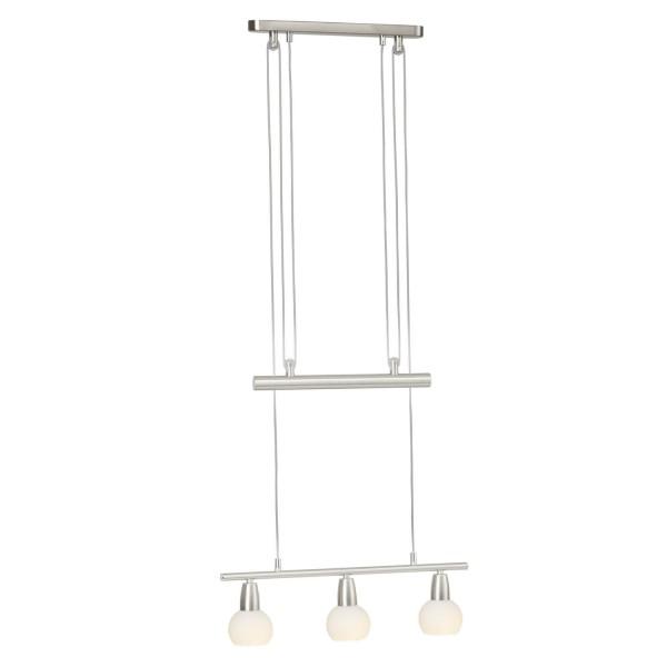 Brilliant 93248/77 Mona Pendelleuchte, 3-flammig Metall/Glas LED Lampen