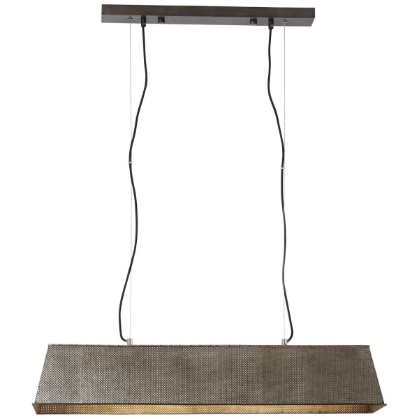 Brilliant 93335/46 Lazar Pendelleuchte, 4-flammig Metall/Kunststoff/Textil LED Lampen