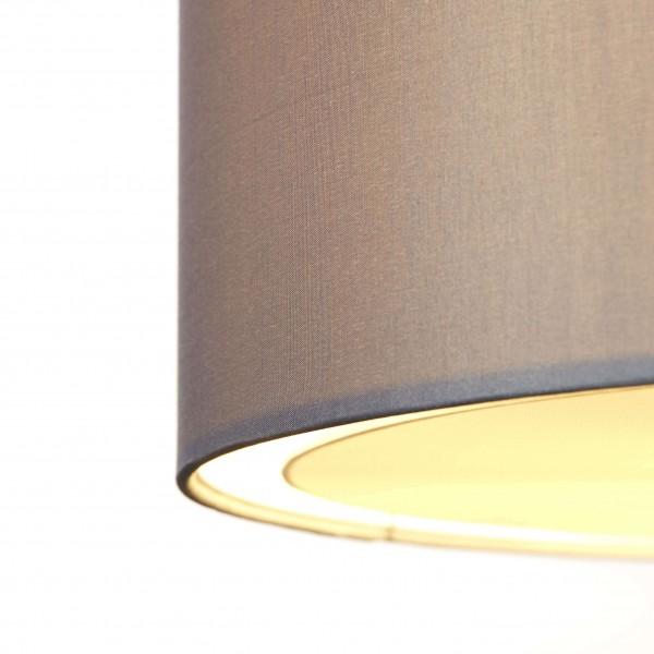 Brilliant 93374/22 Clarie Pendelleuchte 40cm Metall/Textil Beleuchtung