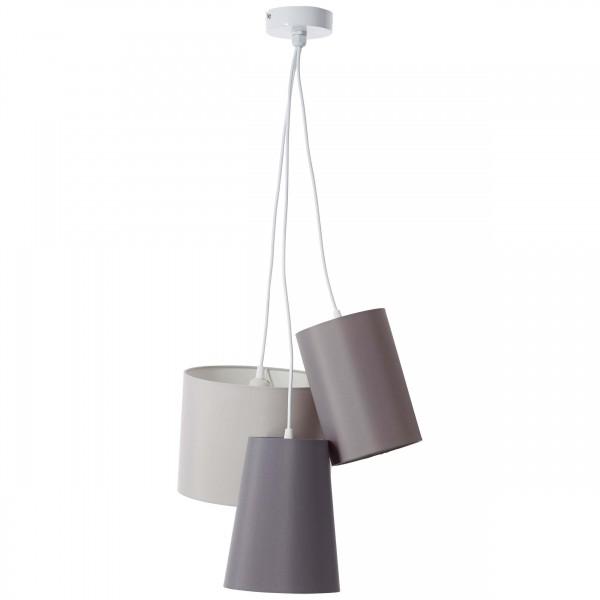 Brilliant 93377/22 Trial Pendelleuchte, 3-flammig Metall/Textil schoene lampenwelt