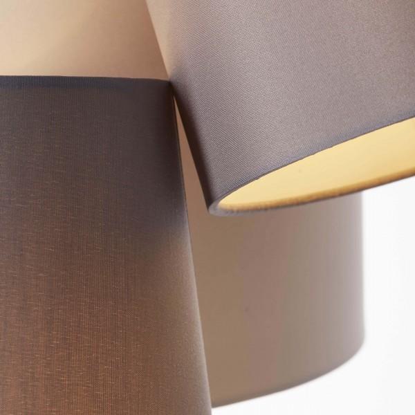 Brilliant 93377/22 Trial Pendelleuchte, 3-flammig Metall/Textil Leuchten