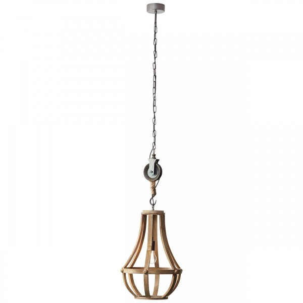 Brilliant 93399/45 Church Pendelleuchte 43cm Holz/Metall LED Lampen