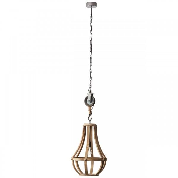 Brilliant 93399/45 Church Pendelleuchte 43cm Holz/Metall schoene lampenwelt