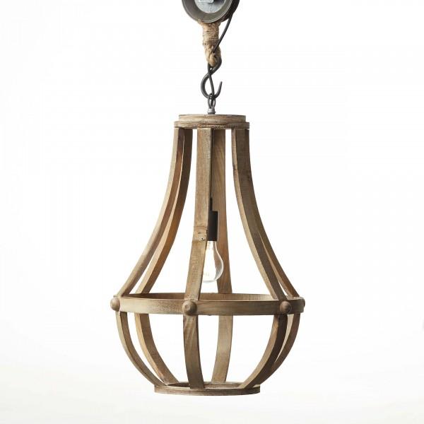Brilliant 93399/45 Church Pendelleuchte 43cm Holz/Metall Leuchten