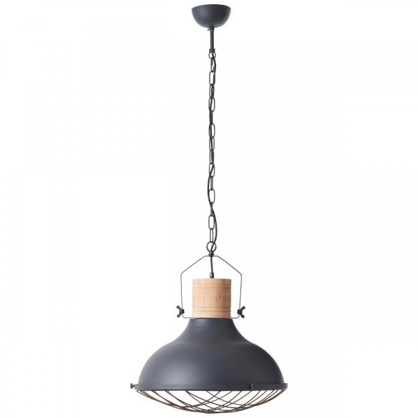 Brilliant 93406/86 Emma Pendelleuchte 47cm Metall/Holz LED Lampen