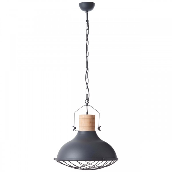 Brilliant 93406/86 Emma Pendelleuchte 47cm Metall/Holz schoene lampenwelt