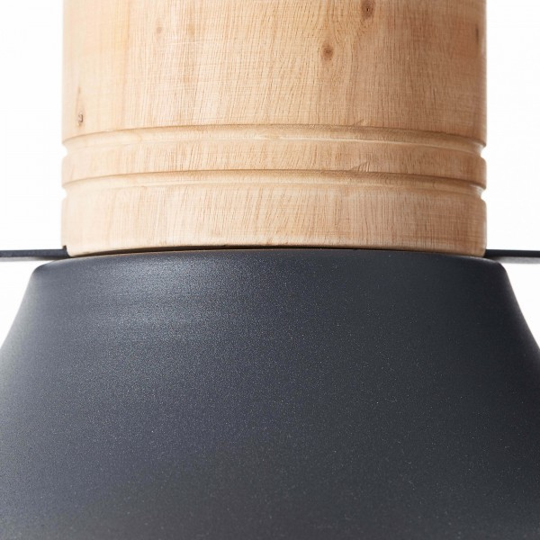 Brilliant 93406/86 Emma Pendelleuchte 47cm Metall/Holz Beleuchtung