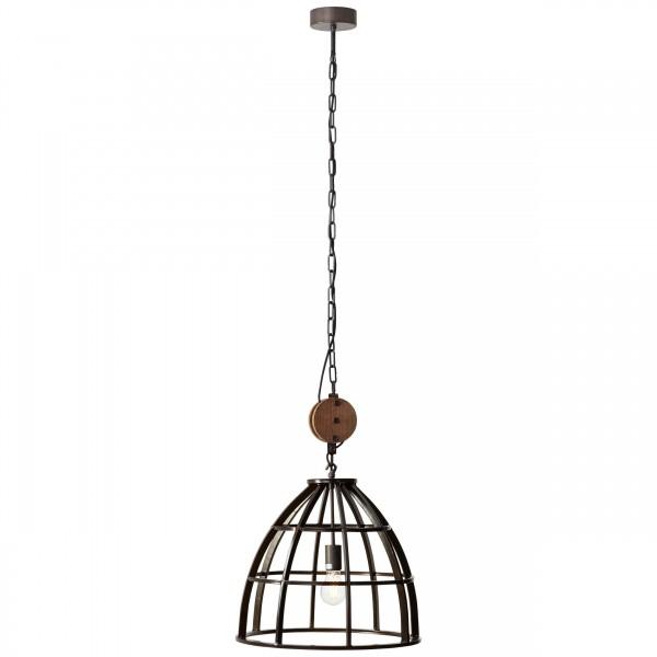 Brilliant 93411/76 Matrix 2 Pendelleuchte 47cm Metall/Holz LED Lampen