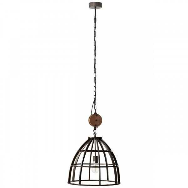 Brilliant 93411/76 Matrix 2 Pendelleuchte 47cm Metall/Holz schoene lampenwelt