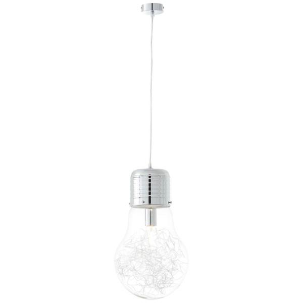 Brilliant 93429/15 Bulb Pendelleuchte 27cm Metall/Glas LED Lampen