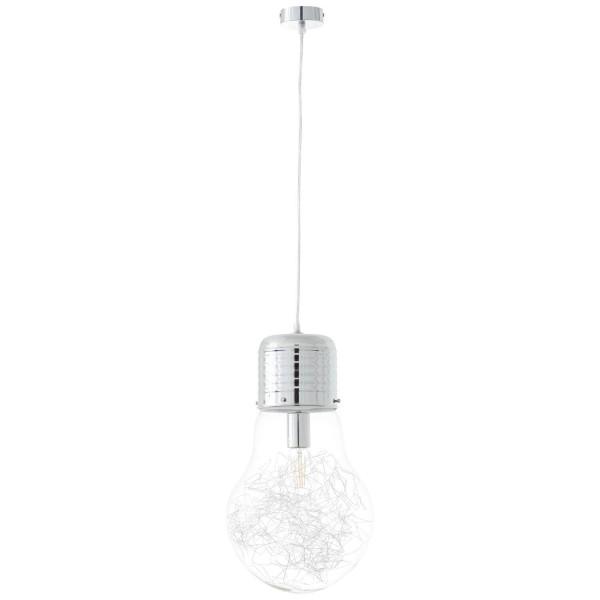 Brilliant 93429/15 Bulb Pendelleuchte 27cm Metall/Glas schoene lampenwelt