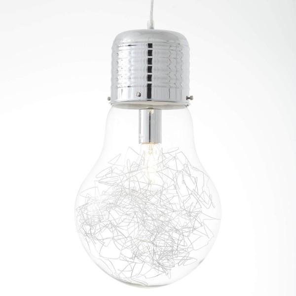 Brilliant 93429/15 Bulb Pendelleuchte 27cm Metall/Glas Leuchten