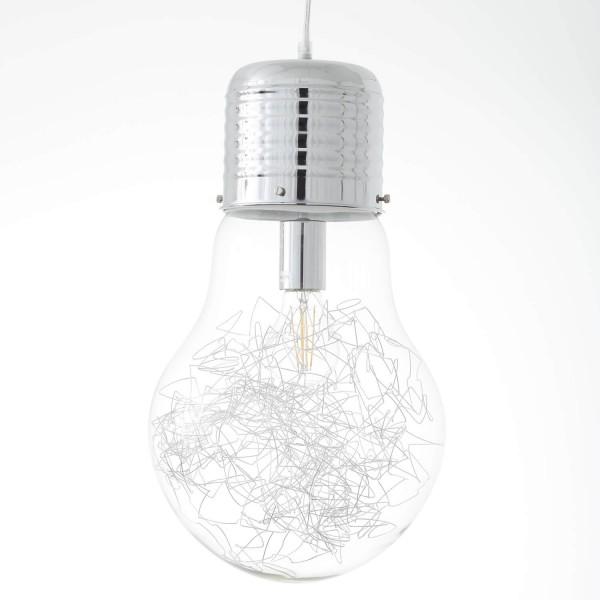 Brilliant 93429/15 Bulb Pendelleuchte 27cm Metall/Glas Beleuchtung