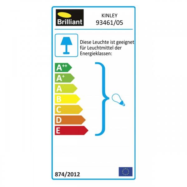 Brilliant 93461/05 Kinley Wandhalbschale Metall/Kunststoff Leuchten