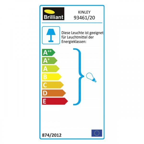Brilliant 93461/20 Kinley Wandhalbschale Metall/Kunststoff Leuchten