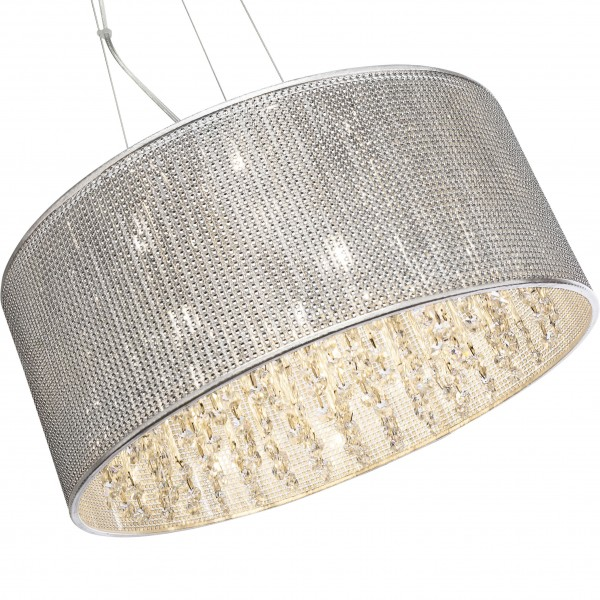Brilliant 93532/15 Dubai Pendelleuchte 43cm Metall/Glas schoene lampenwelt