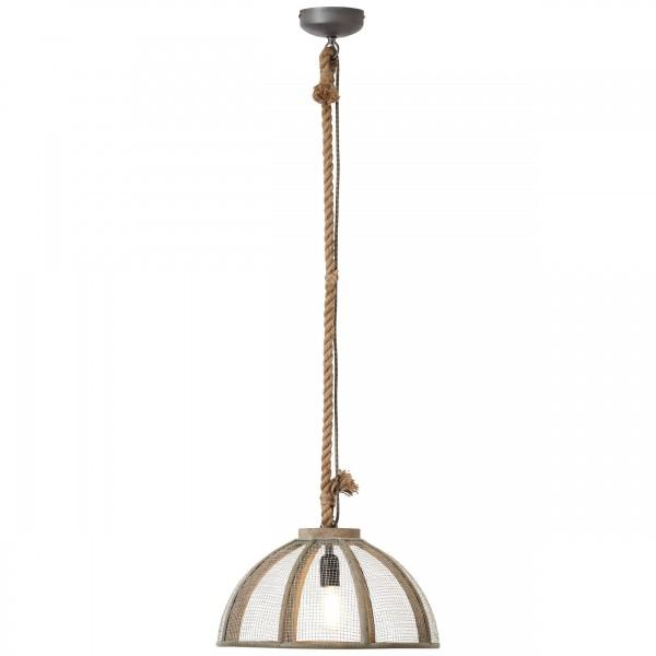 Brilliant 93549/20 Messy Pendelleuchte 43cm Metall/Holz/Textil LED Lampen