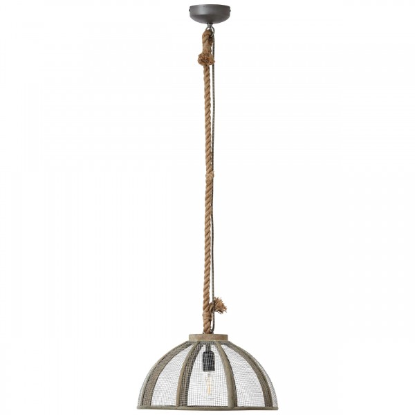 Brilliant 93549/20 Messy Pendelleuchte 43cm Metall/Holz/Textil schoene lampenwelt