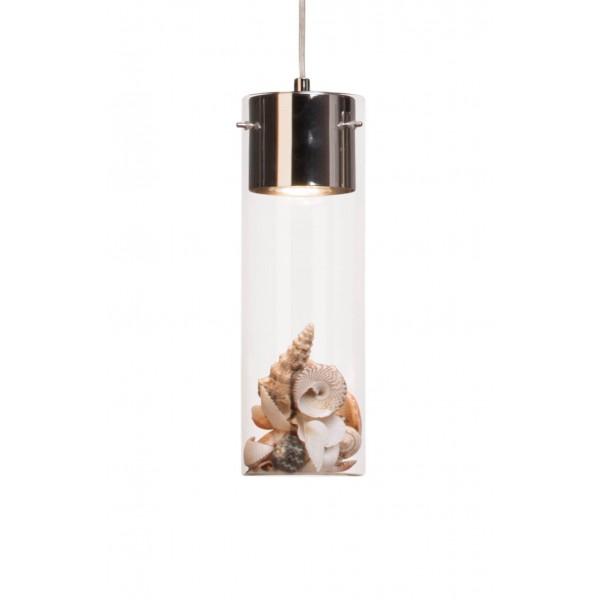 Brilliant 93554/15 Joker Pendelleuchte, 3-flammig Glas/Metall Leuchten