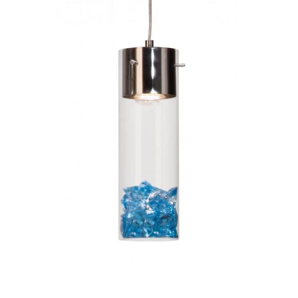 Brilliant 93554/15 Joker Pendelleuchte, 3-flammig Glas/Metall Beleuchtung