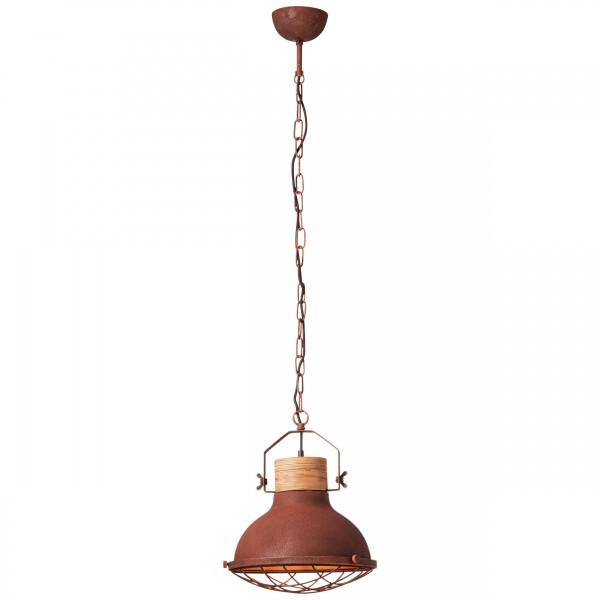 Brilliant 93571/55 Emma Pendelleuchte 33cm Metall/Holz LED Lampen