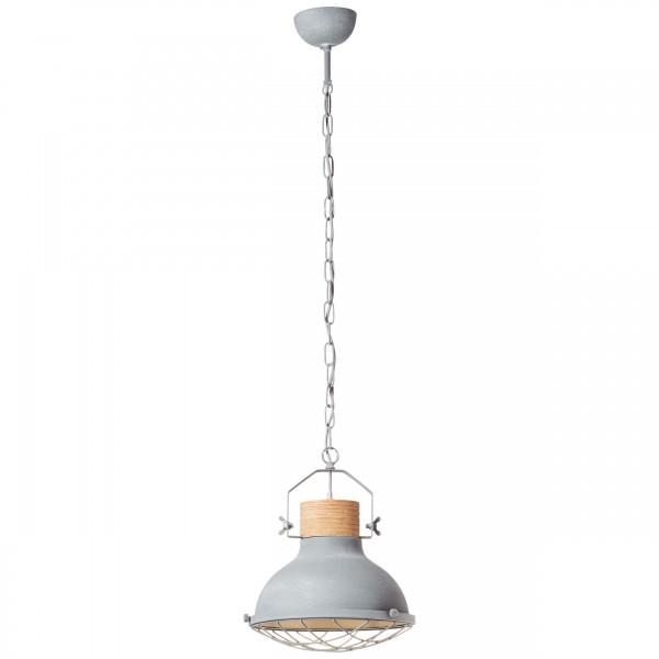 Brilliant 93571/70 Emma Pendelleuchte 33cm Metall/Holz LED Lampen