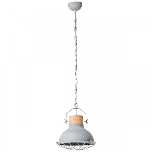 Brilliant 93571/70 Emma Pendelleuchte 33cm Metall/Holz schoene lampenwelt