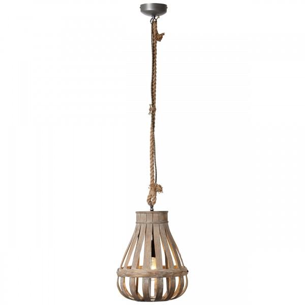 Brilliant 93578/09 Kaminika Pendelleuchte 33cm Metall/Bambus LED Lampen