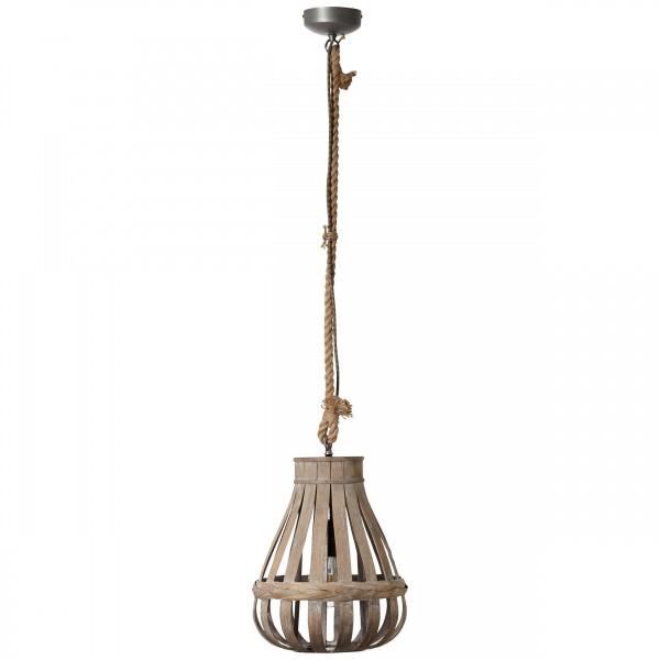 Brilliant 93578/09 Kaminika Pendelleuchte 33cm Metall/Bambus schoene lampenwelt