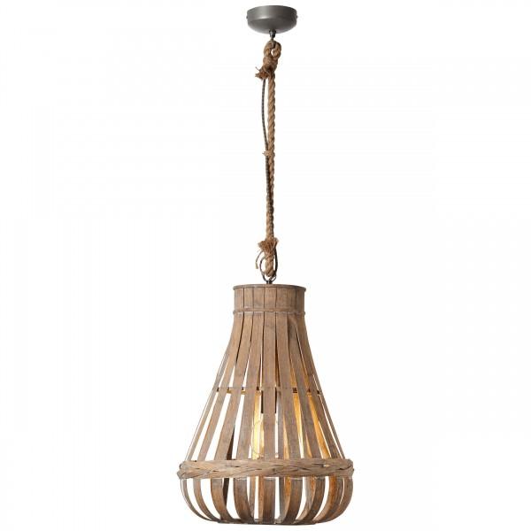 Brilliant 93579/09 Kaminika Pendelleuchte 44cm Metall/Bambus LED Lampen