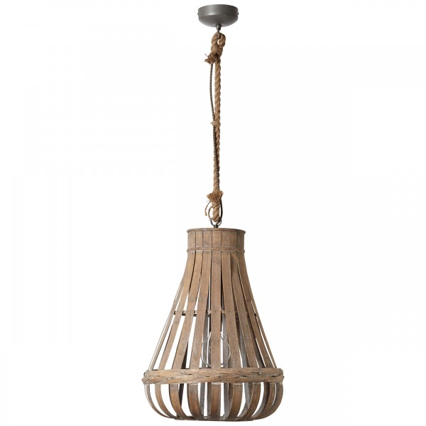 Brilliant 93579/09 Kaminika Pendelleuchte 44cm Metall/Bambus schoene lampenwelt