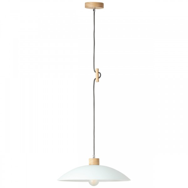 Brilliant 93610/35 Bio Pendelleuchte 40cm Metall/Holz/Glas schoene lampenwelt