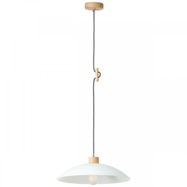 Brilliant 93610/35 Bio Pendelleuchte 40cm Metall/Holz/Glas Beleuchtung