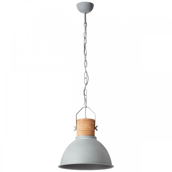 Brilliant 93630/70 Frida Pendelleuchte 39cm Metall/Holz schoene lampenwelt