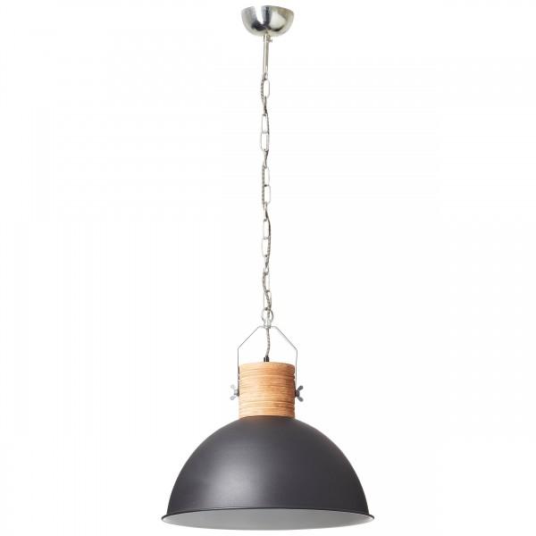 Brilliant 93668/76 Frida Pendelleuchte 48cm Holz/Metall schoene lampenwelt