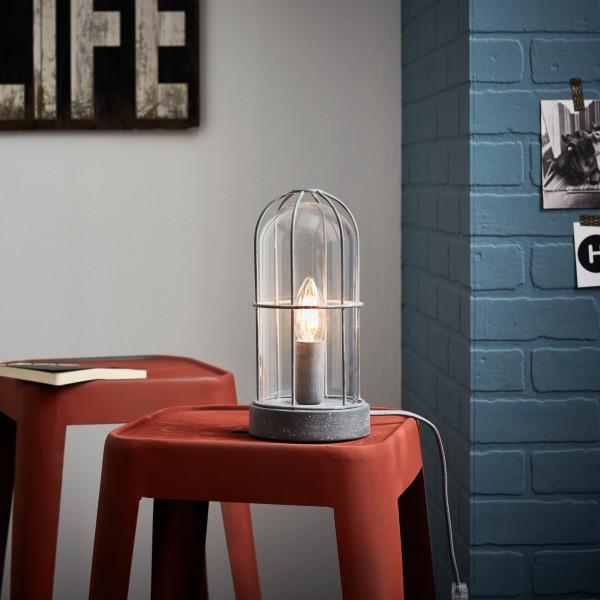 Brilliant 93686/70 Storm Tischleuchte Metall/Glas Beleuchtung