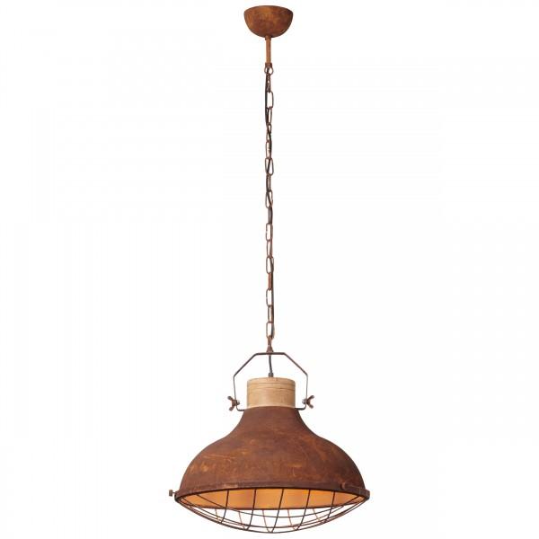 Brilliant 93753/60 Charo Pendelleuchte 48cm Metall/Holz LED Lampen