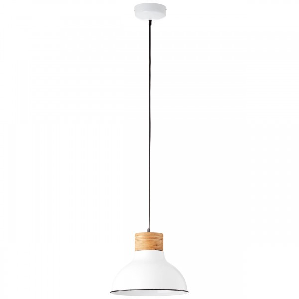 Brilliant 93791/05 Pullet Pendelleuchte 31cm Metall/Holz schoene lampenwelt