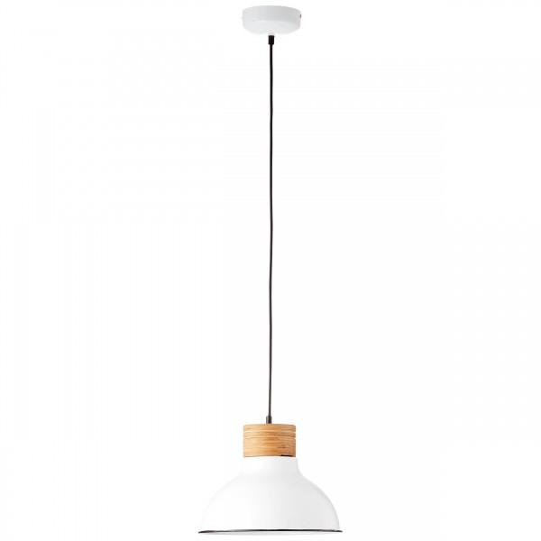Brilliant 93791/05 Pullet Pendelleuchte 31cm Metall/Holz Beleuchtung