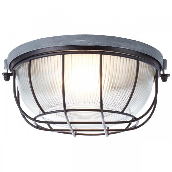Brilliant 94481/76 Lauren Wand- und Deckenleuchte 26cm Metall/Glas LED Lampen