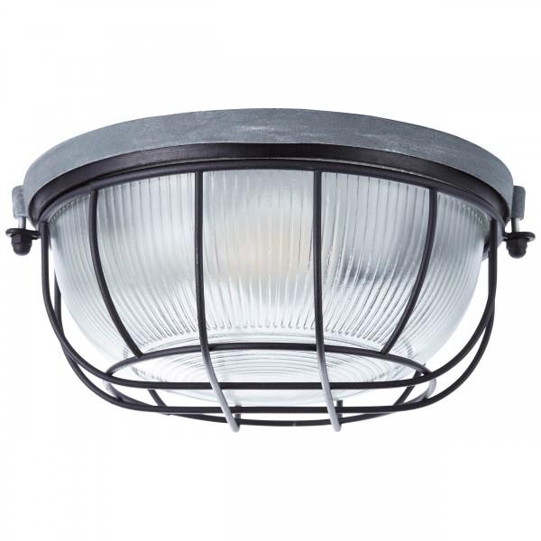 Brilliant 94481/76 Lauren Wand- und Deckenleuchte 26cm Metall/Glas schoene lampenwelt