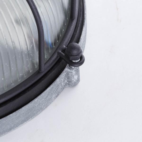 Brilliant 94481/76 Lauren Wand- und Deckenleuchte 26cm Metall/Glas Leuchten