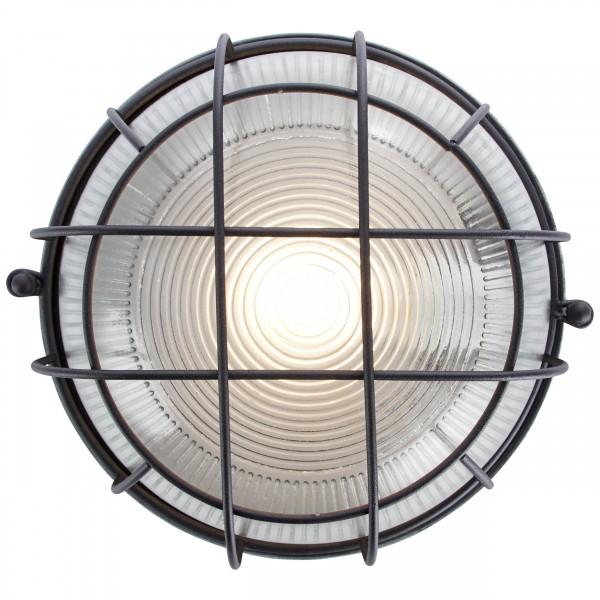 Brilliant 94481/76 Lauren Wand- und Deckenleuchte 26cm Metall/Glas Beleuchtung