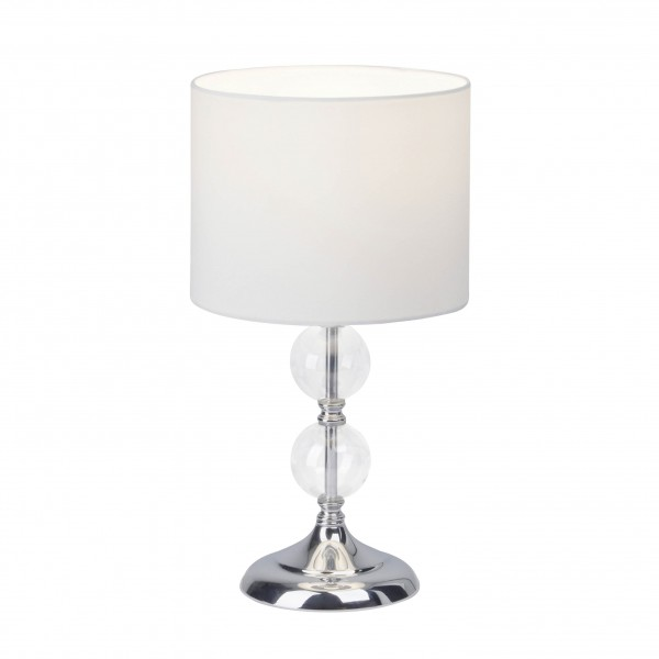 Brilliant 94861/05 Rom Tischleuchte Metall/Glas/Textil LED Lampen