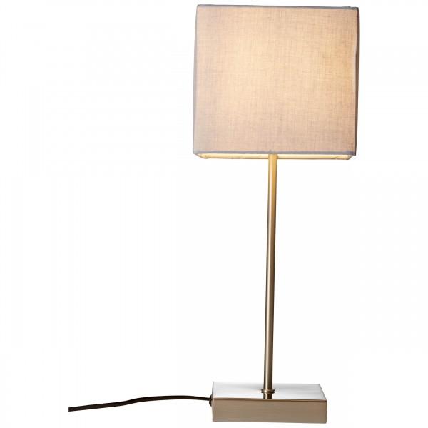Brilliant 94873/22 Aglae Tischleuchte mit Touchschalter Metall/Textil LED Lampen